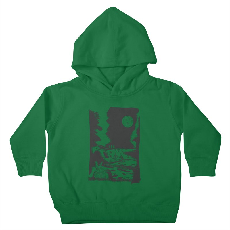 The Moon and the Rabbit Kids Toddler Pullover Hoody by Time Machine Supplies