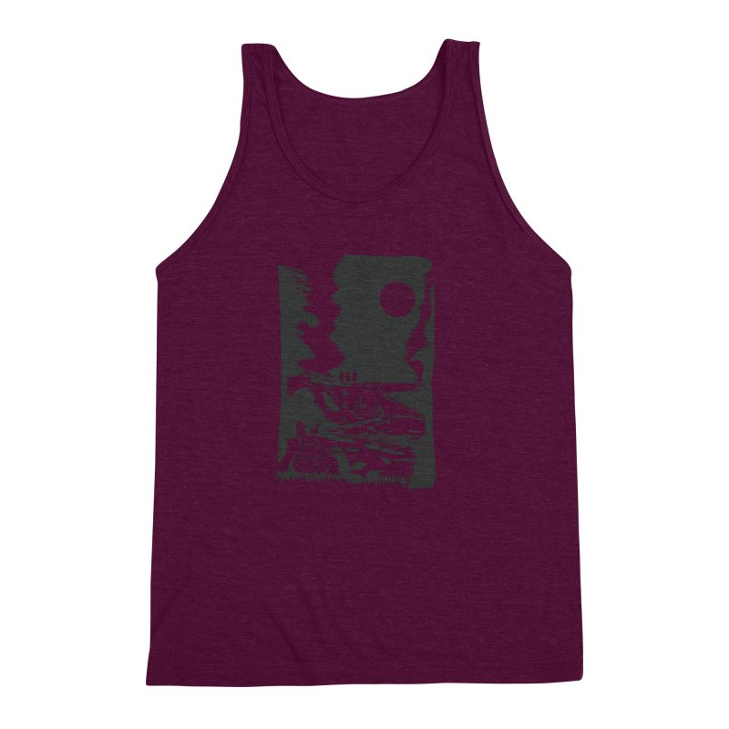 The Moon and the Rabbit Men's Triblend Tank by Time Machine Supplies