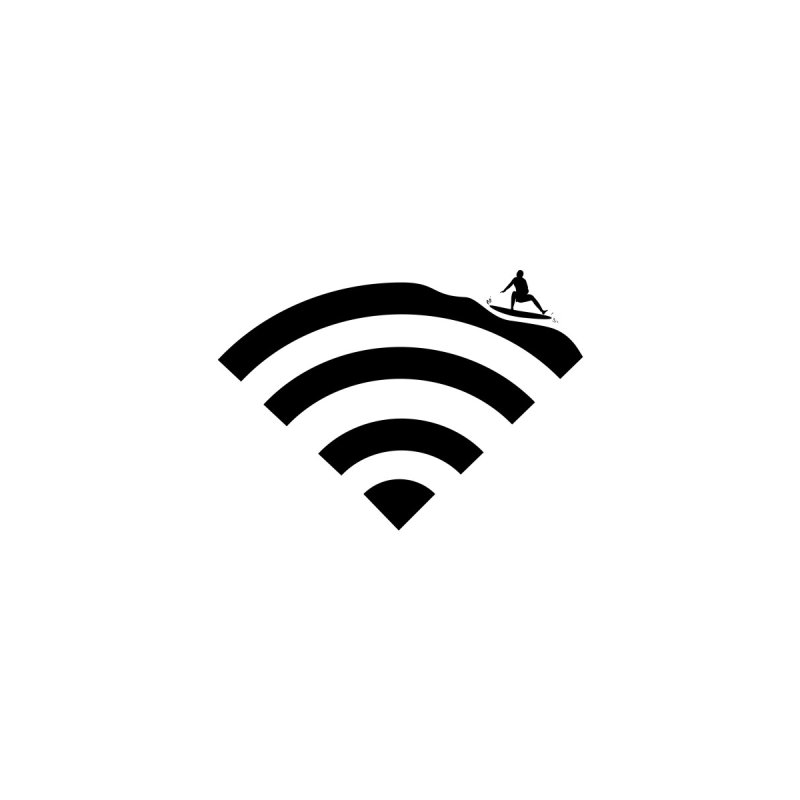 Surfin´ the Wifi None  by Tim´s Artist Shop