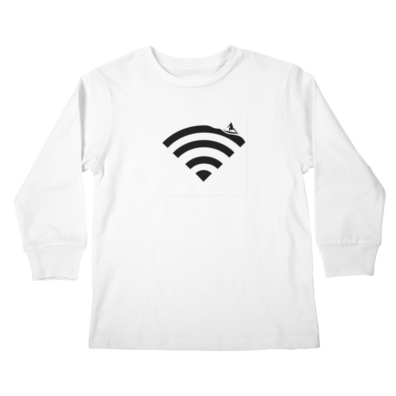 Surfin´ the Wifi Kids Longsleeve T-Shirt by Tim´s Artist Shop