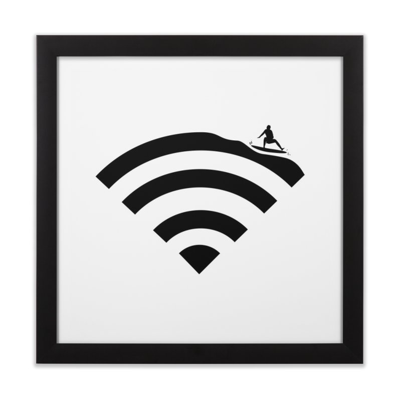 Surfin´ the Wifi Home Framed Fine Art Print by Tim´s Artist Shop