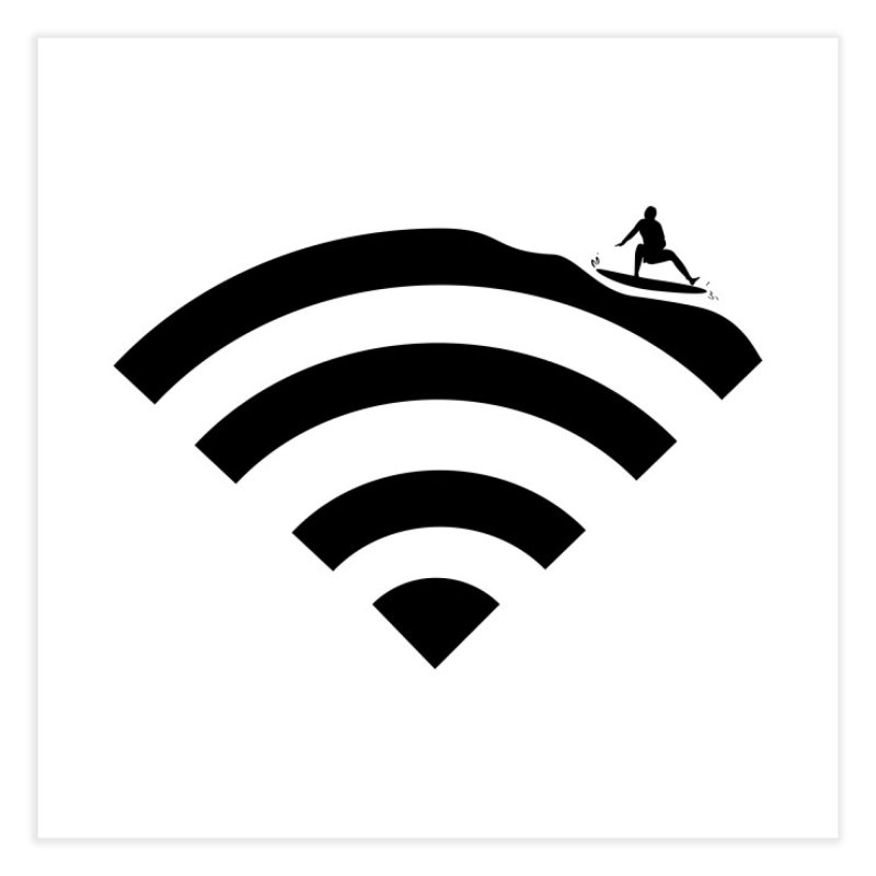 Surfin´ the Wifi Home Fine Art Print by Tim´s Artist Shop