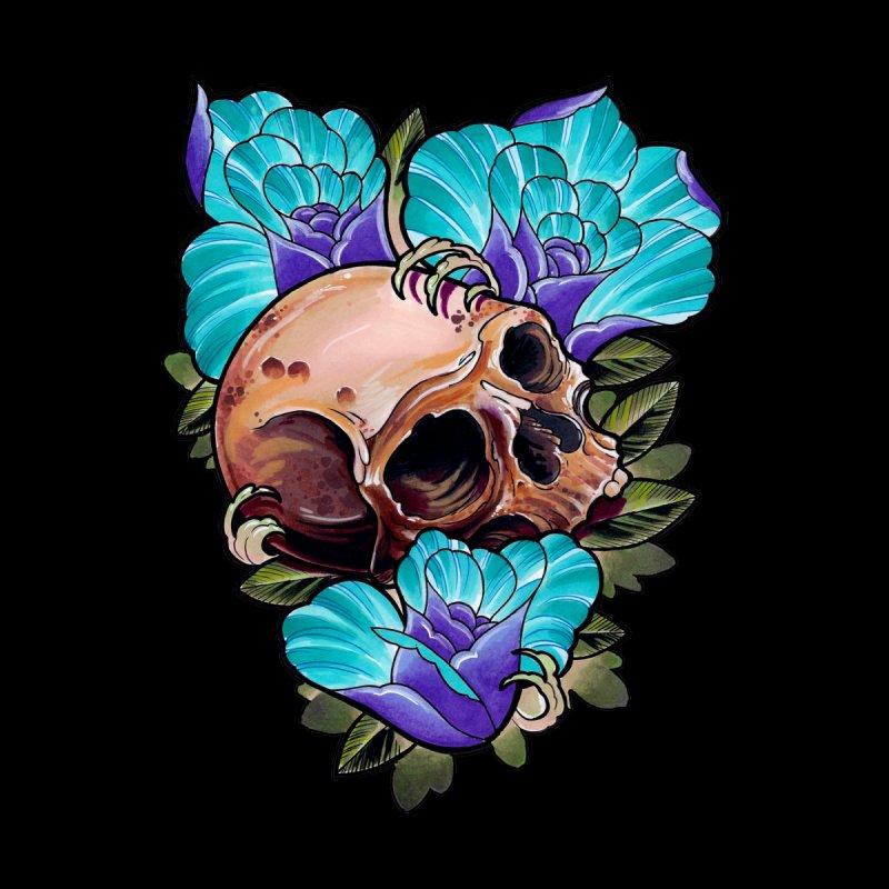 Skull and Roses by timpangburn's Artist Shop