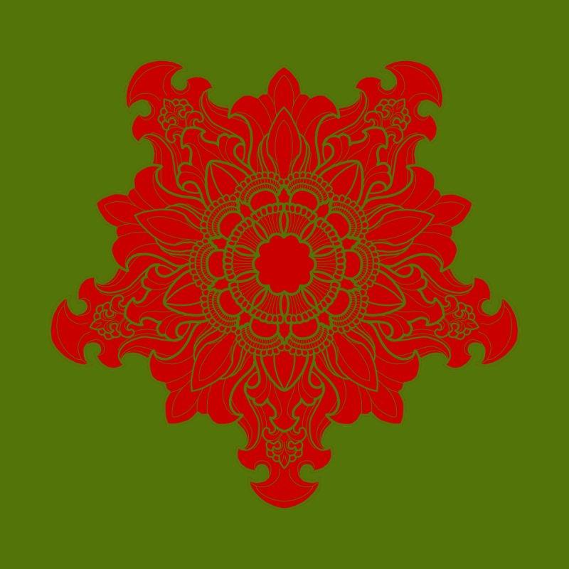 Tibetan Filigree Red by timpangburn's Artist Shop