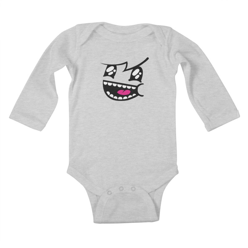 Don't worry be hairy Kids Baby Longsleeve Bodysuit by timrobot's Artist Shop