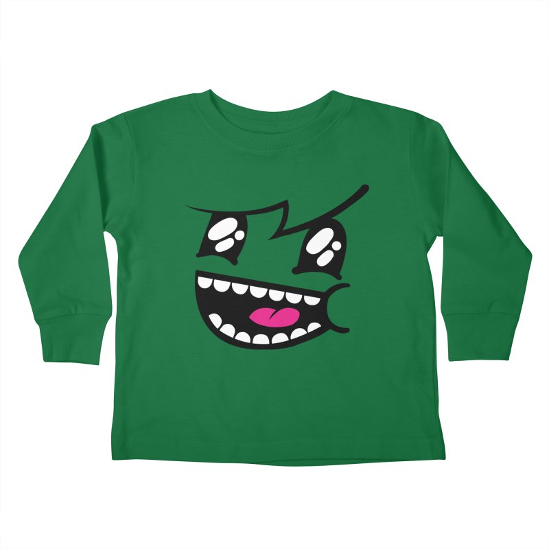 Don't worry be hairy in Kids Toddler Longsleeve T-Shirt Kelly Green by timrobot's Artist Shop