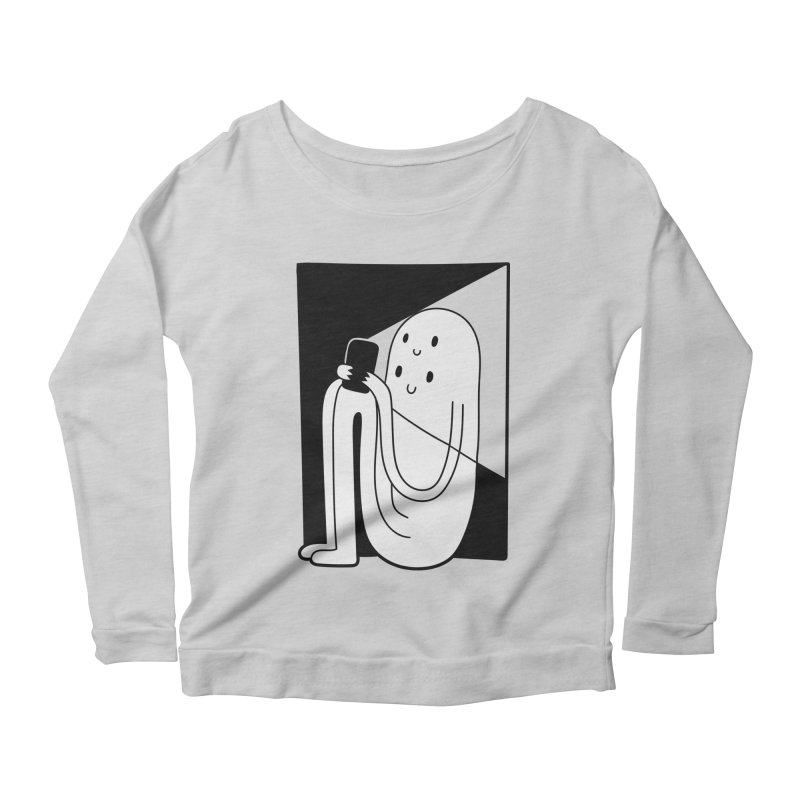 Phony Women's Longsleeve Scoopneck  by timrobot's Artist Shop