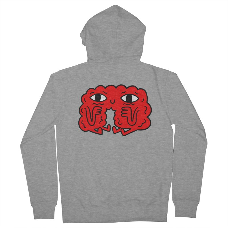 Brain Vs Heart Men's Zip-Up Hoody by timrobot's Artist Shop