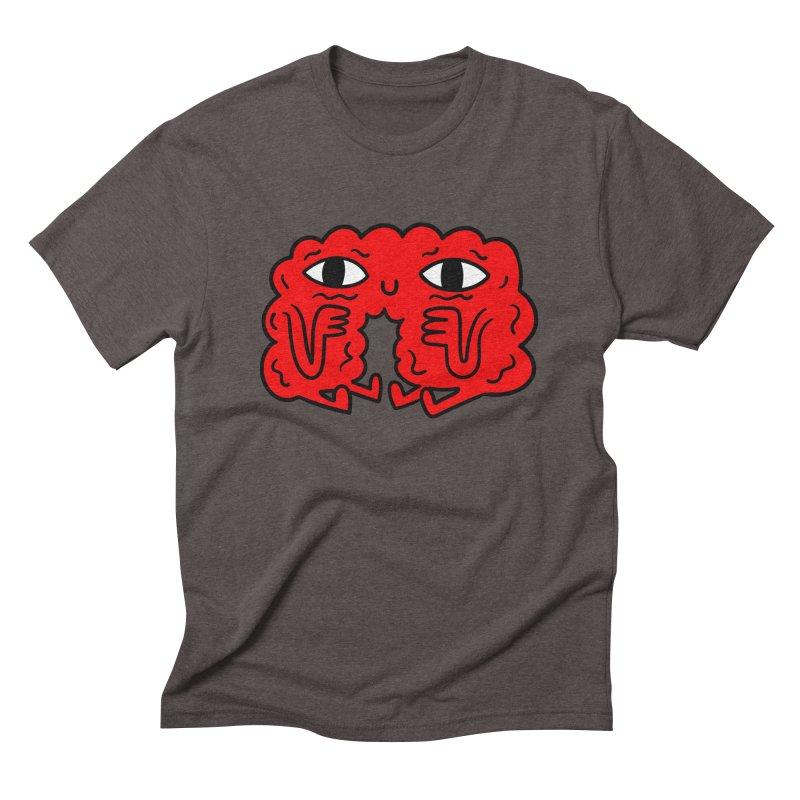 Brain Vs Heart Men's Triblend T-shirt by timrobot's Artist Shop