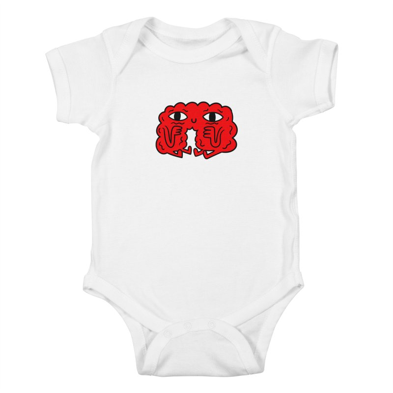 Brain Vs Heart Kids Baby Bodysuit by timrobot's Artist Shop