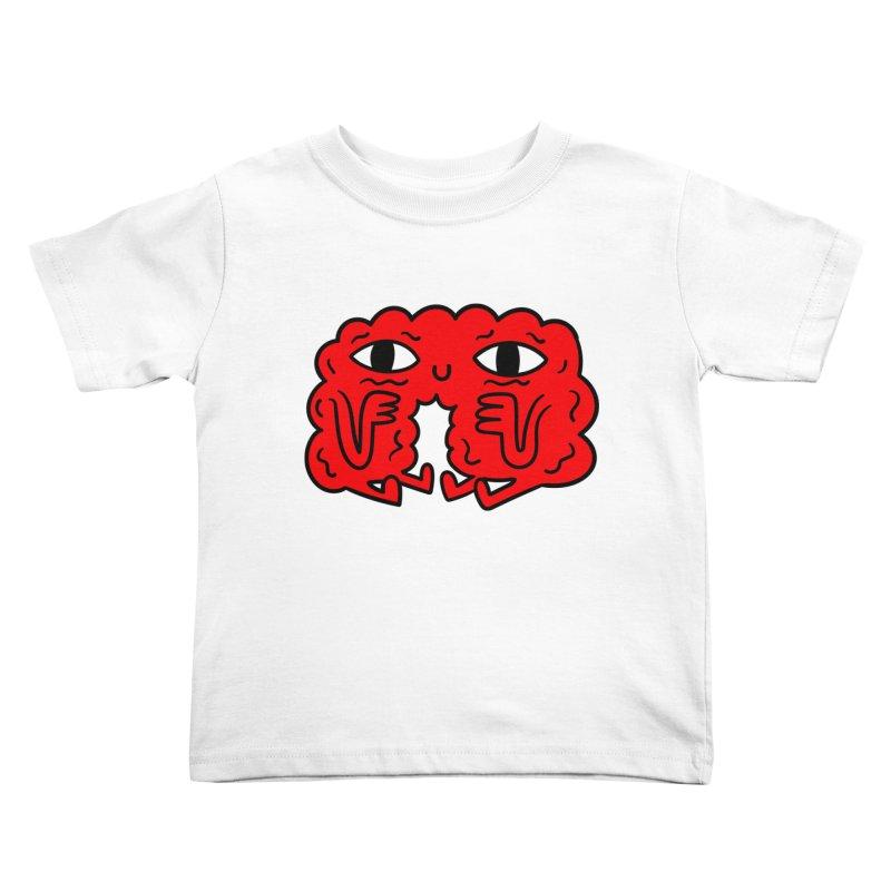 Brain Vs Heart Kids Toddler T-Shirt by timrobot's Artist Shop