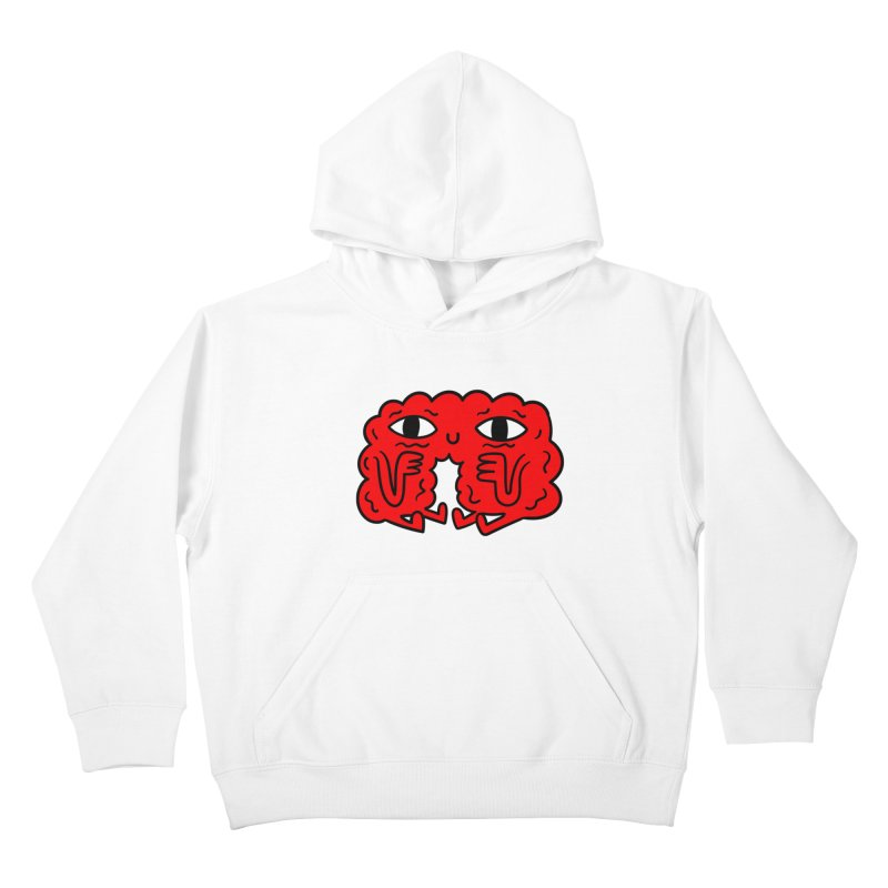 Brain Vs Heart Kids Pullover Hoody by timrobot's Artist Shop