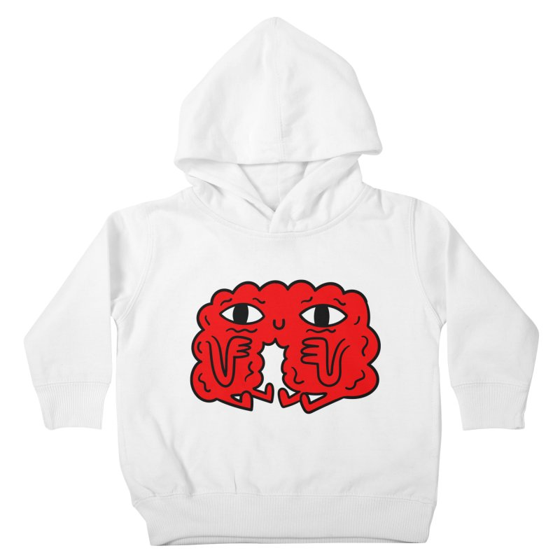 Brain Vs Heart Kids Toddler Pullover Hoody by timrobot's Artist Shop