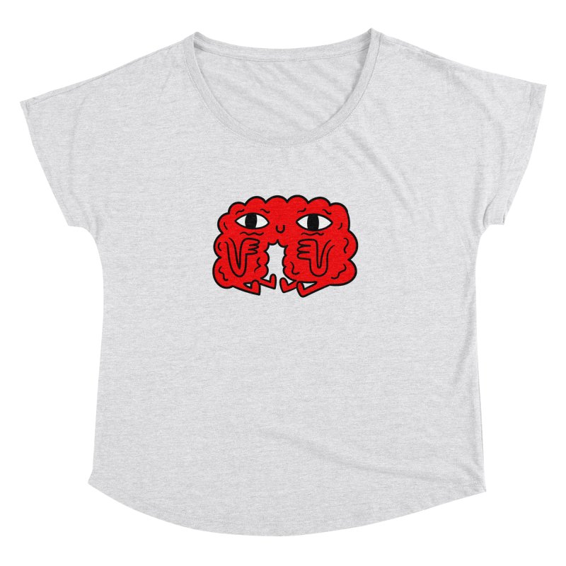 Brain Vs Heart Women's Dolman by timrobot's Artist Shop