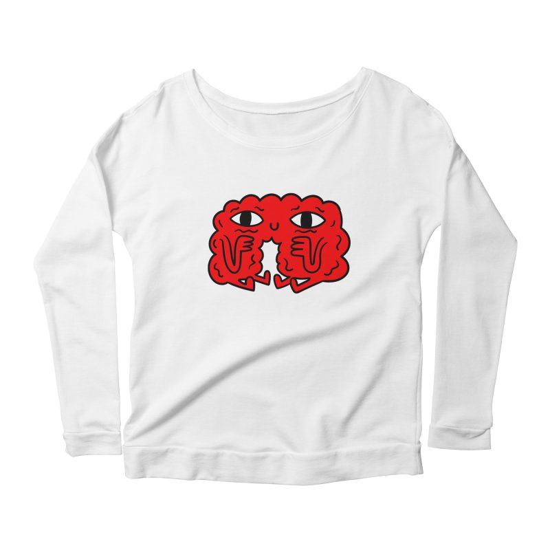 Brain Vs Heart Women's Longsleeve Scoopneck  by timrobot's Artist Shop