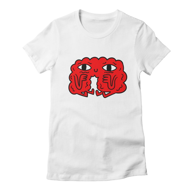 Brain Vs Heart Women's Fitted T-Shirt by timrobot's Artist Shop