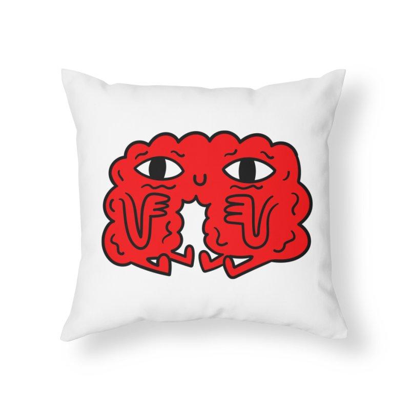Brain Vs Heart Home Throw Pillow by timrobot's Artist Shop