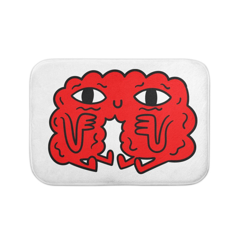 Brain Vs Heart Home Bath Mat by timrobot's Artist Shop