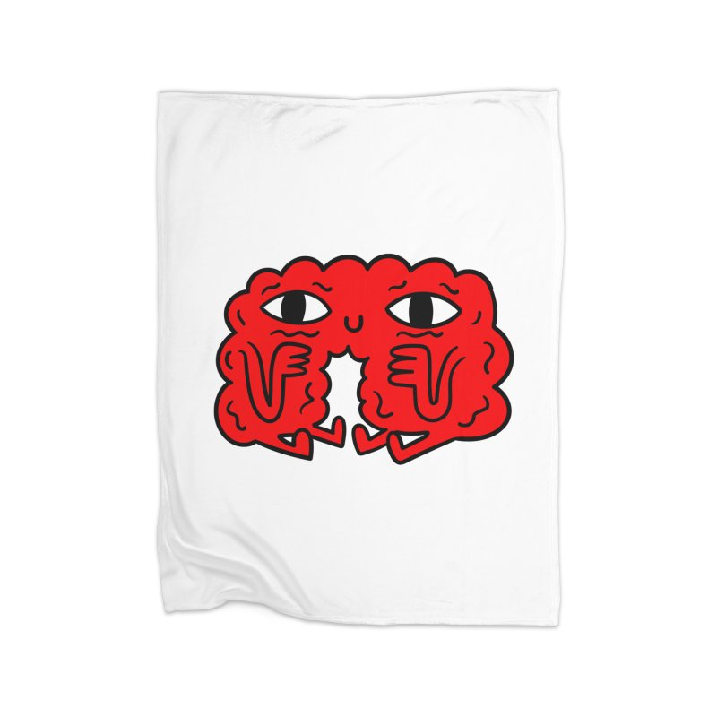 Brain Vs Heart Home Blanket by timrobot's Artist Shop