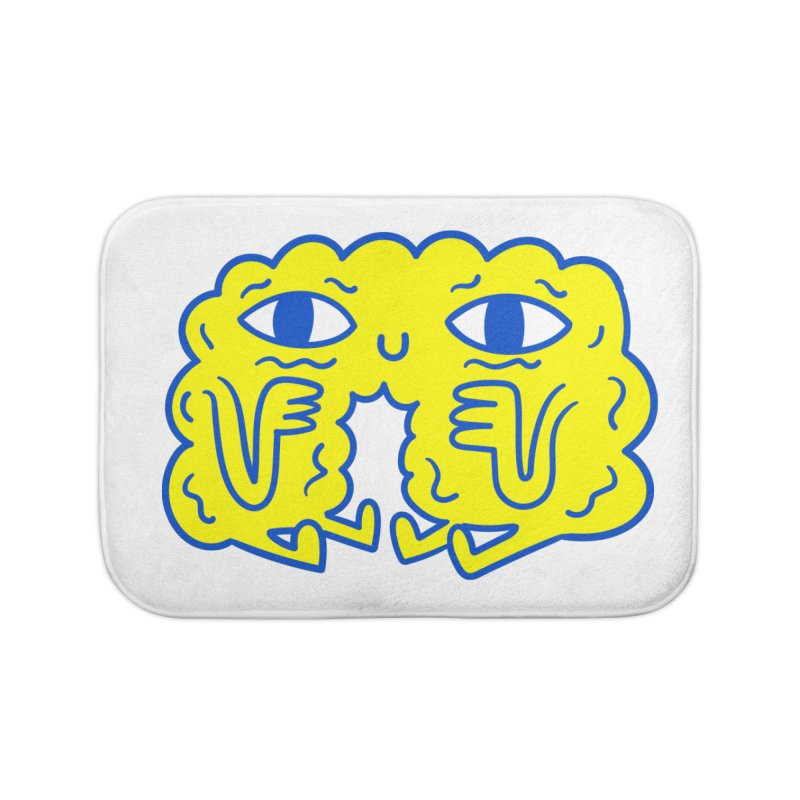 Bored By Red Home Bath Mat by timrobot's Artist Shop