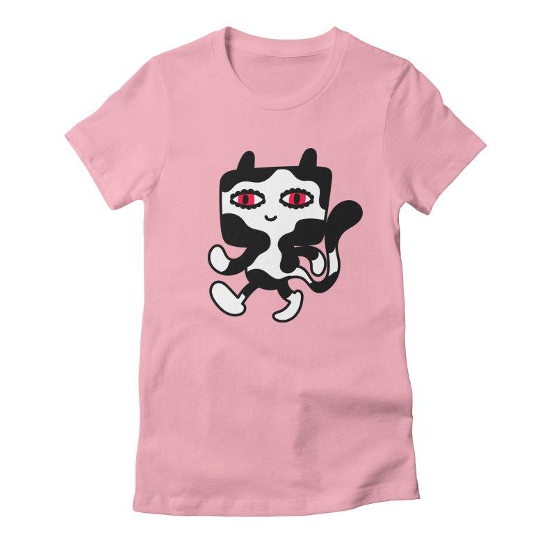 Catwalker Women's Fitted T-Shirt by timrobot's Artist Shop