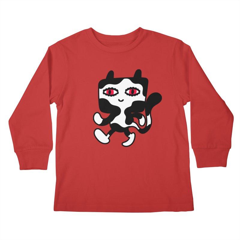 Catwalker Kids Longsleeve T-Shirt by timrobot's Artist Shop