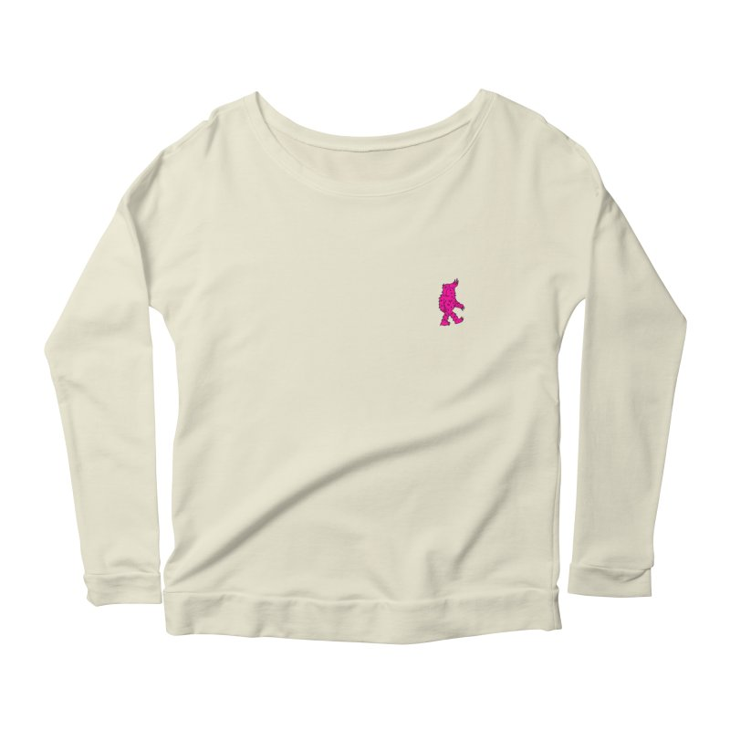 Are we there Yeti? Women's Longsleeve Scoopneck  by timrobot's Artist Shop