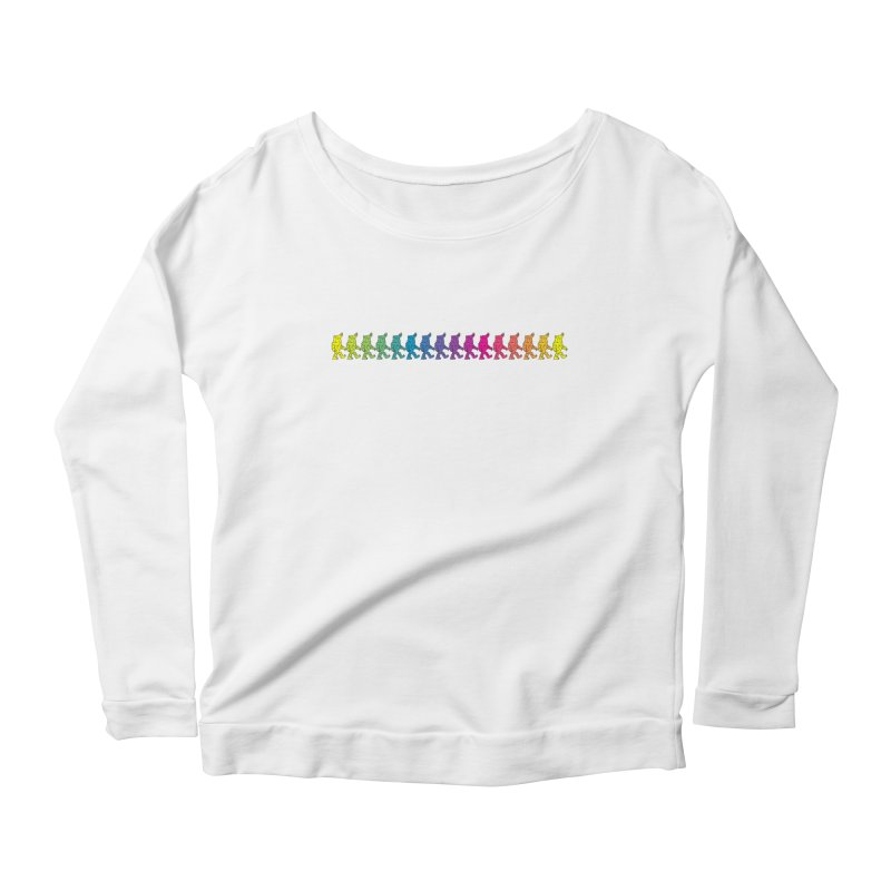 Rainbowalker Women's Longsleeve Scoopneck  by timrobot's Artist Shop