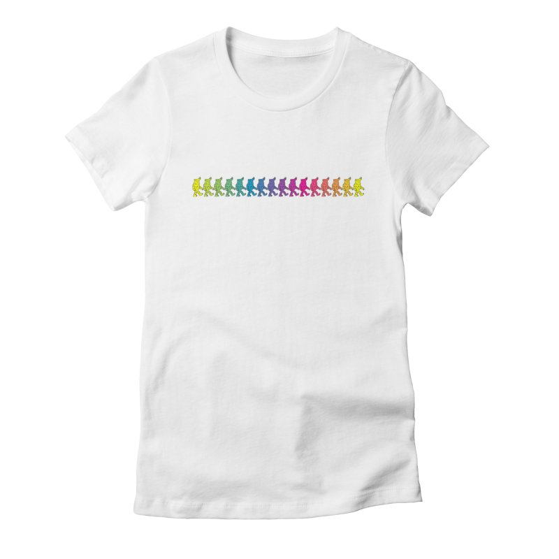 Rainbowalker Women's Fitted T-Shirt by timrobot's Artist Shop