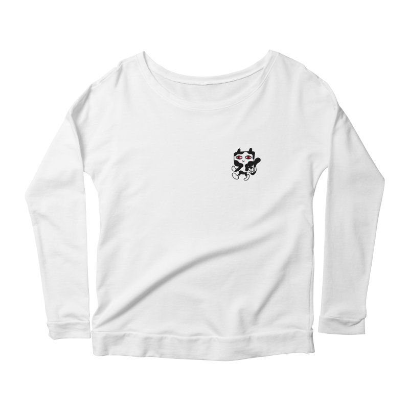 CATWALK Pocket Women's Longsleeve Scoopneck  by timrobot's Artist Shop