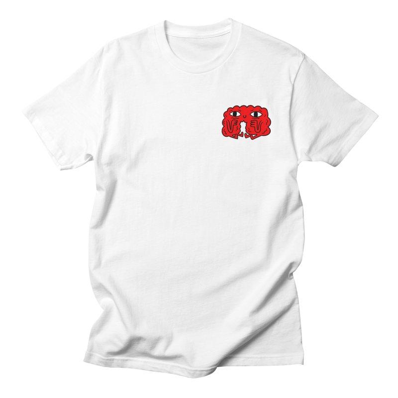 Brain Vs. Heart Pocket  in Men's T-Shirt White by timrobot's Artist Shop