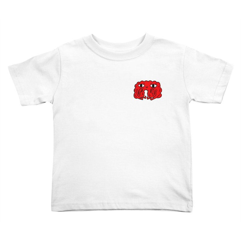 Brain Vs. Heart Pocket  Kids Toddler T-Shirt by timrobot's Artist Shop
