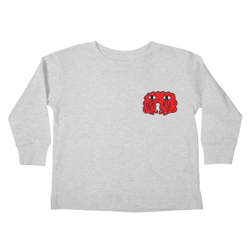 Brain Vs. Heart Pocket  Kids Toddler Longsleeve T-Shirt by timrobot's Artist Shop