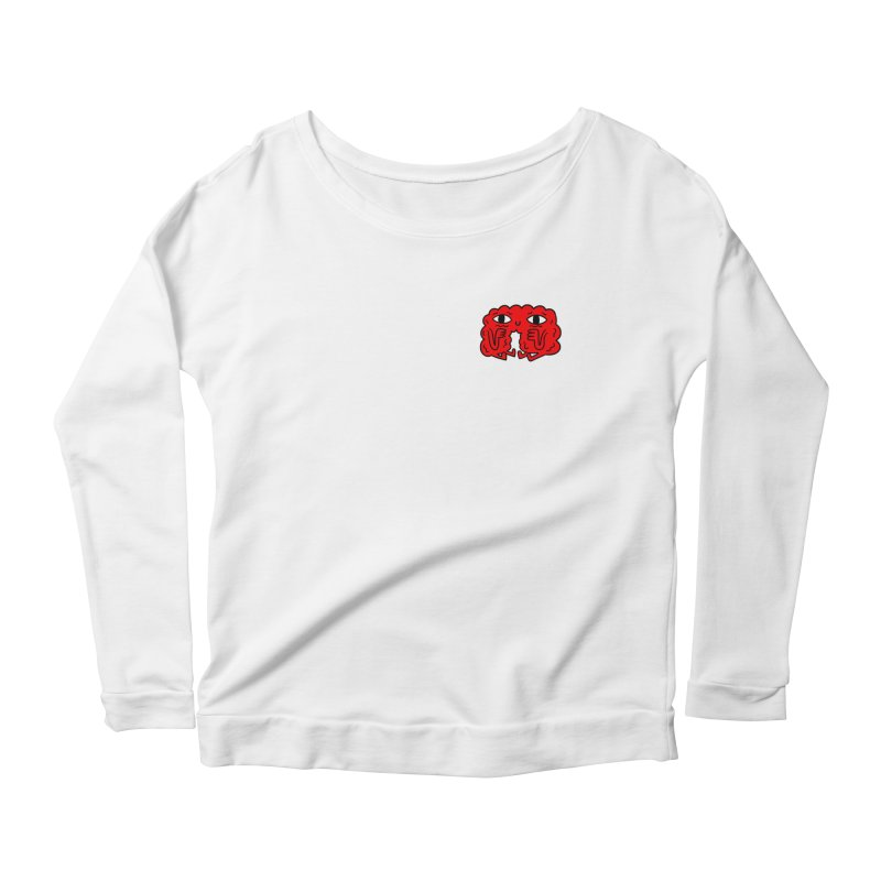 Brain Vs. Heart Pocket  Women's Longsleeve Scoopneck  by timrobot's Artist Shop