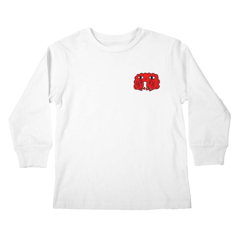 Brain Vs. Heart Pocket  Kids Longsleeve T-Shirt by timrobot's Artist Shop