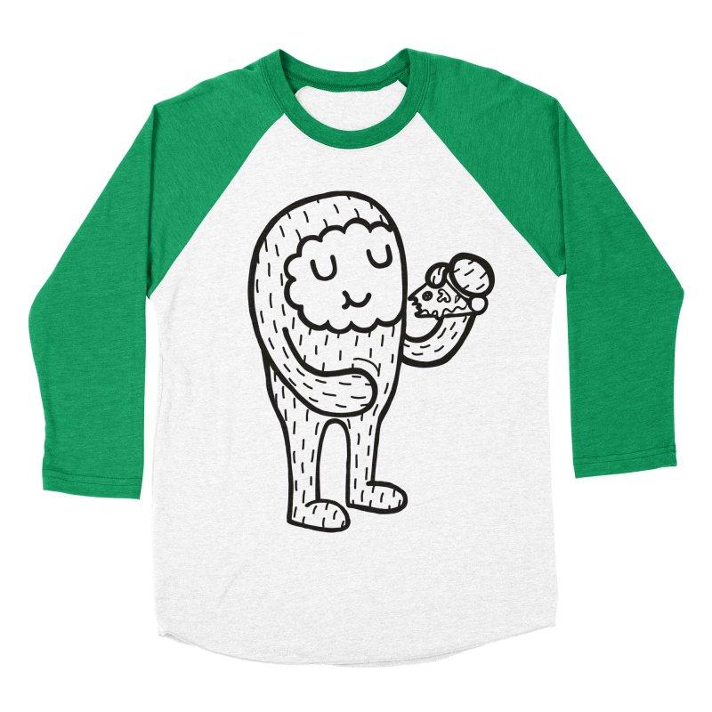Pizza! Women's Baseball Triblend T-Shirt by timrobot's Artist Shop