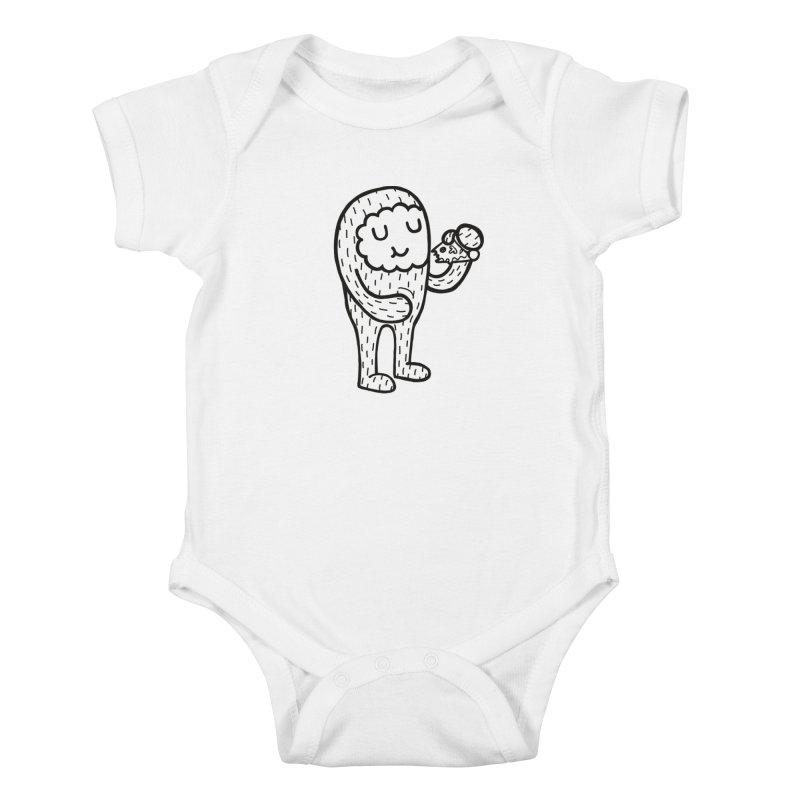 PIZZA! Kids Baby Bodysuit by timrobot's Artist Shop