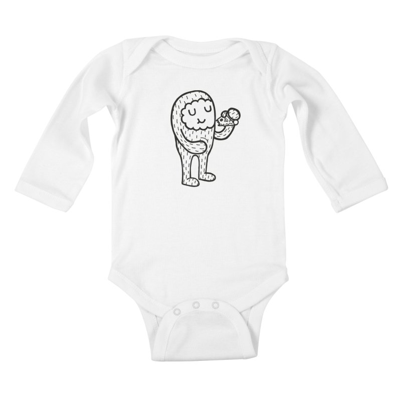 PIZZA! Kids Baby Longsleeve Bodysuit by timrobot's Artist Shop