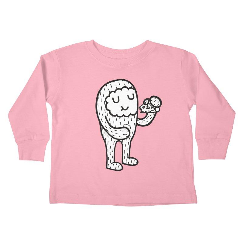 PIZZA! Kids Toddler Longsleeve T-Shirt by timrobot's Artist Shop