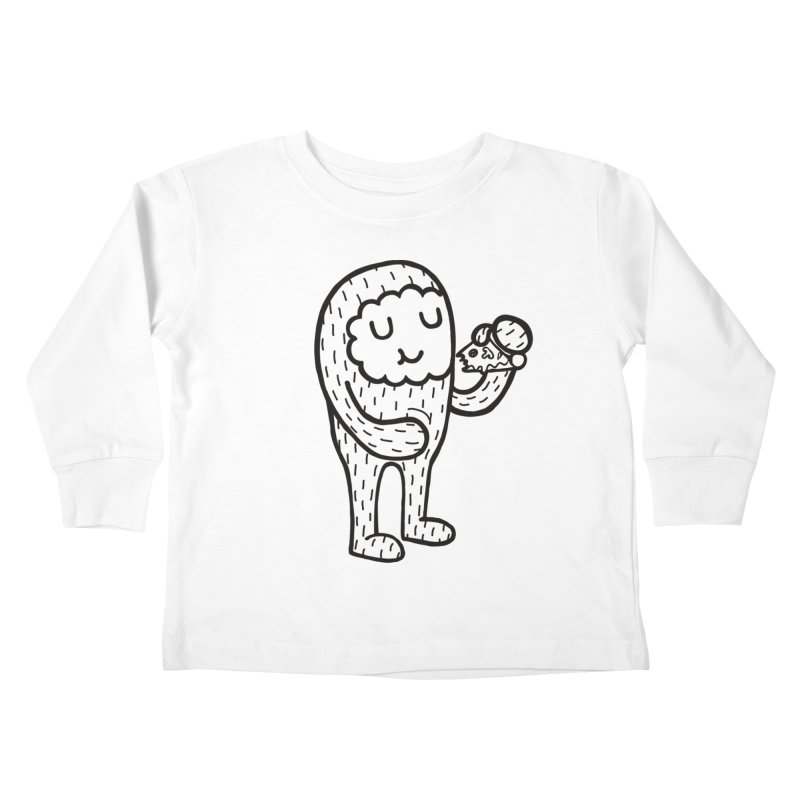 Pizza! Kids Toddler Longsleeve T-Shirt by timrobot's Artist Shop