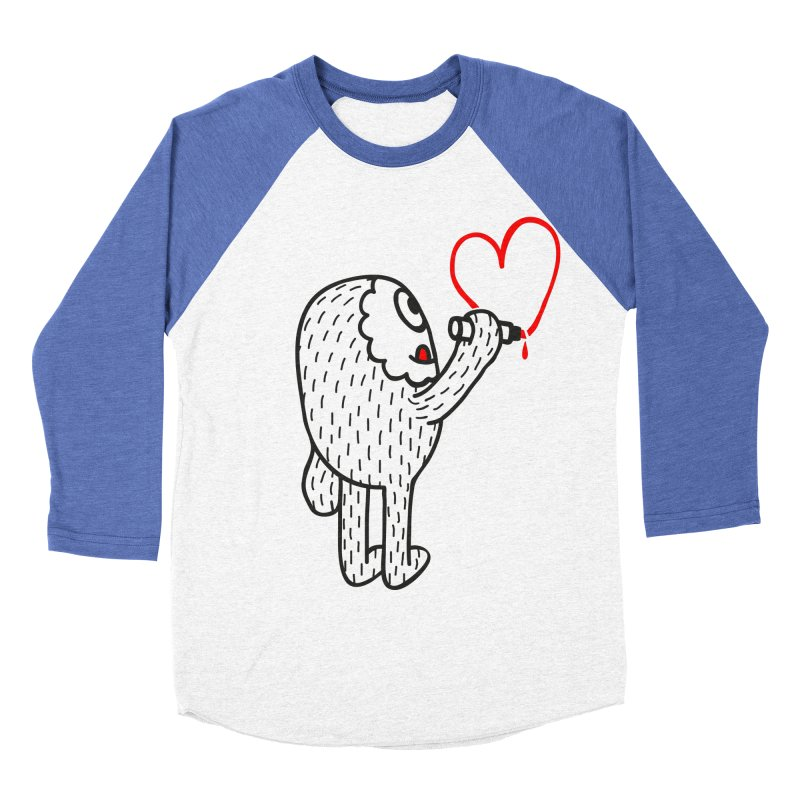 Spread Love Men's Baseball Triblend T-Shirt by timrobot's Artist Shop