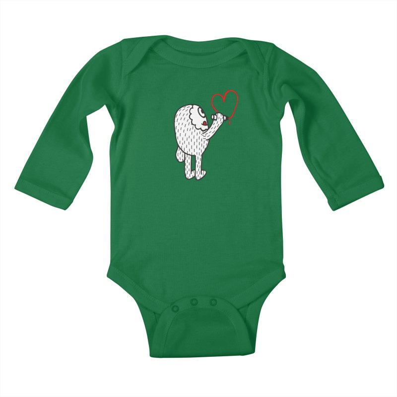 Spread Love Kids Baby Longsleeve Bodysuit by timrobot's Artist Shop