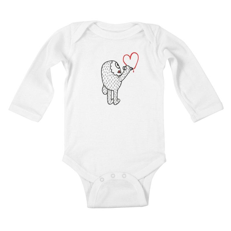 Spread Love Kids Baby Longsleeve Bodysuit by timrobot's Artist Shop