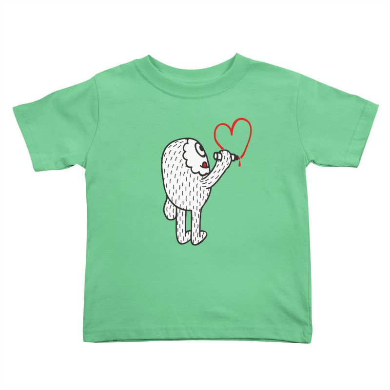 Spread Love Kids Toddler T-Shirt by timrobot's Artist Shop