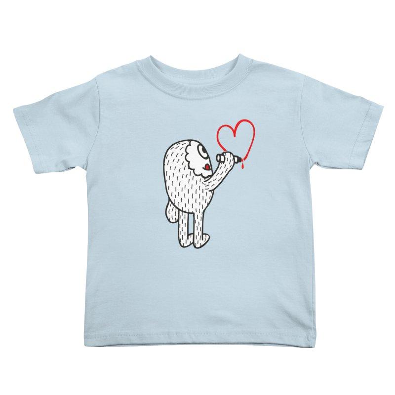 Spread Love Kids Toddler T-Shirt by timrobot's Artist Shop