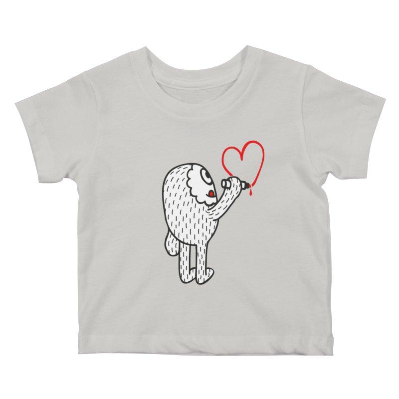 Spread Love Kids Baby T-Shirt by timrobot's Artist Shop