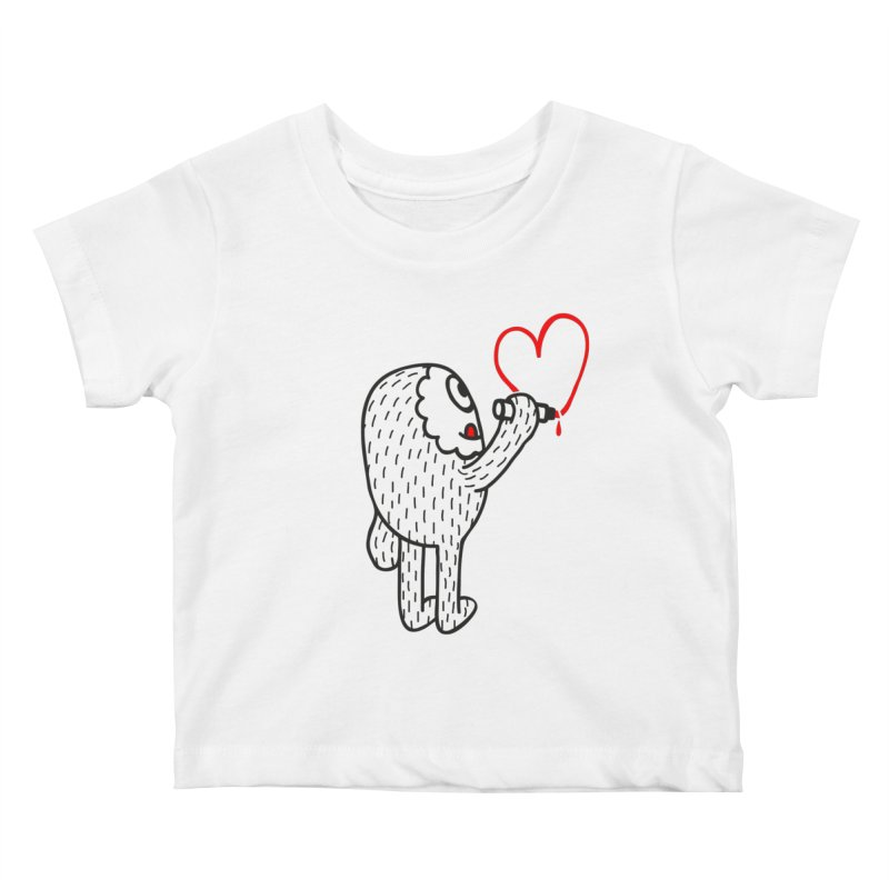 Spread Love Kids Baby T-Shirt by timrobot's Artist Shop