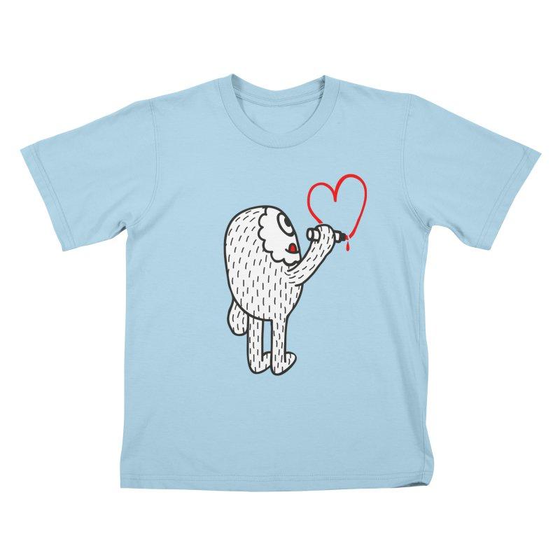 Spread Love Kids T-shirt by timrobot's Artist Shop