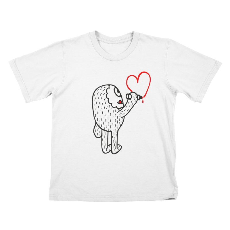 Spread Love Kids T-shirt by timrobot's Artist Shop
