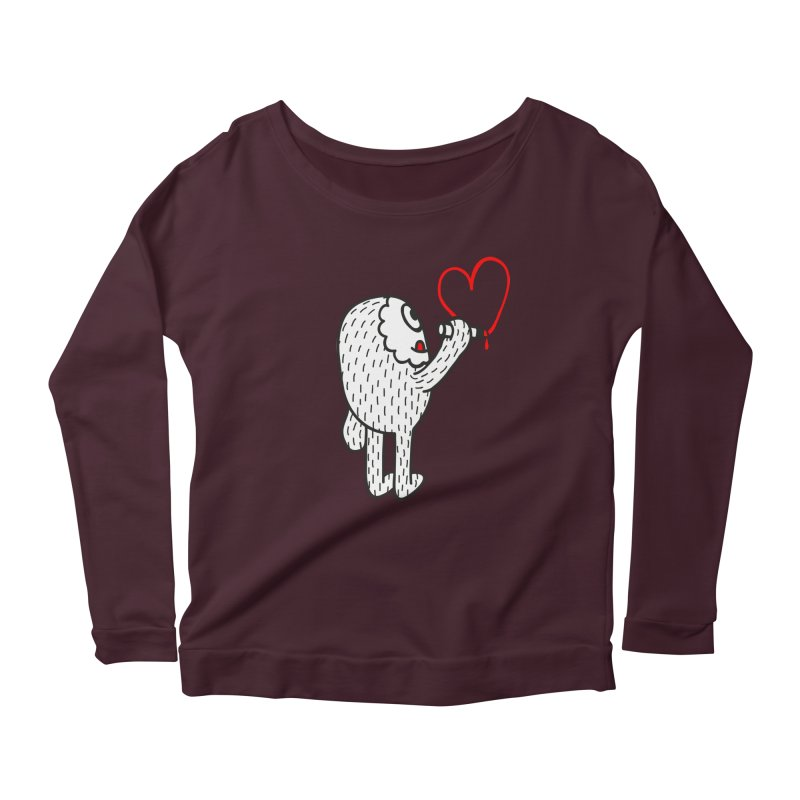 Spread Love Women's Longsleeve Scoopneck  by timrobot's Artist Shop